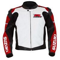 SUZUKI Biker Lederjacke Herren MOTOGP Leder Biker Jacke Motorrad Lederjacken