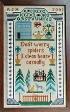 10% Off Moira Blackburn Samplers Counted X-stitch chart - Don't Worry Spiders