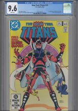 The New Teen Titans #22 CGC 9.6 1982 DC 1st App Black fire in Cameo