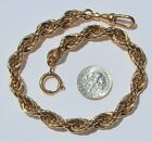Civil War Twirl Style Gold Plated Medium Length Pocket Watch Chain