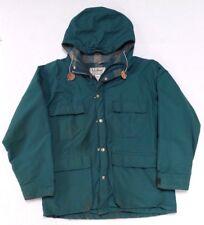Vintage LL Bean Baxter State Parka Wool Lined Coat Womens Medium Green