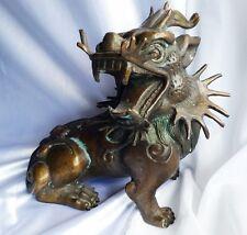 Drache Drachenhund China  19.Jhd  Tempelwächter Bronze 3,3 kg