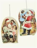 Victorian Trading Co 5 Santa Pillow Vintage Art Christmas Ornaments 40E