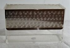 mid century 60s - WMF Klappbox Servietten Plexi Agryl Glas Box Behälter 60er