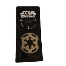Star Wars Imperial Logo Aluminum Luggage Bag Tag ID Holder Steel Cable