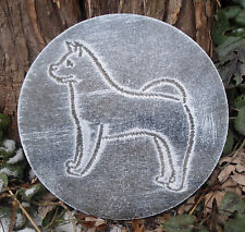 Dog Akita mold garden ornament casting plaque mould