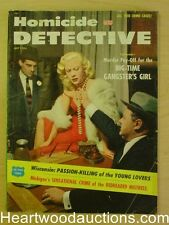 """Homicide Detective"" July 1956 Gangster Girl Cover"