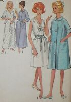 Vintage 1960s Simplicity 5001 Nightgown Gown Robe Pattern sz 14-16