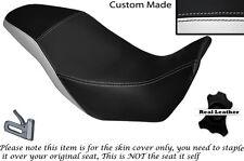 BLACK & WHITE CUSTOM FITS HONDA CB 500 X 13-14 DUAL LEATHER SEAT COVER