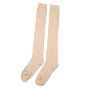 Women Wool Cashmere Over Knee Thigh-High Thick Solid Boot Socks Soft Winter Warm