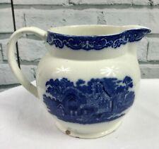 "Vintage Abbey 1720 Blue & White Jug 5.75"" Tall"