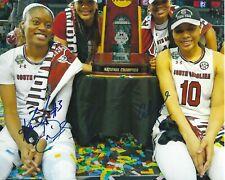 KAELA DAVIS South Carolina ALLISHA GRAY Signed 8x10 Photo WNBA Basketball WINGS