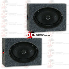 "KENWOOD KFC-6965S 6""x 9"" 3-WAY CAR AUDIO COAXIAL SPEAKERS PLUS 2 x SPEAKER BOXES"