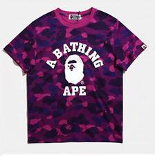 Japanese BAPE Camouflage Short Sleeve tee A Bathing Ape Men Shark Head T-shirt
