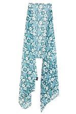 LADIES CUTE COOL WINTER INSPIRED FLORAL THEME MINT GREEN SCARF (MS9)