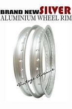 HONDA C92 CA92 CS92 C95 CA95 CA160 ALUMINIUM (SILVER) FRONT + REAR WHEEL RIM