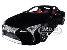LEXUS LC500 BLACK WITH DARK ROSE INTERIOR 1/18 MODEL CAR BY AUTOART 78874