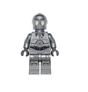 LEGO Star Wars C-3PO Droid Silver Minifigure from 75146