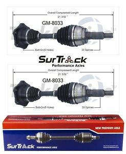 For GMC K1500 K2500 Yukon 4WD AWD Pair Set of 2 Front CV Axle Shafts SurTrack
