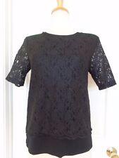 ANN TAYLOR black lace top size S