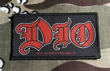Dio Logo Woven Patch D024P Black Sabbath Rainbow Iron Maiden Deep Purple