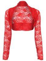Womens Lace Bolero Long Sleeve Shrug Sizes UK S/M - L/XL