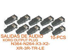 KORG N364-N264-X3-KARMA-TRITON-10-PCS OUTPUT PLUG- SALIDAS DE AUDIO PLATEADAS