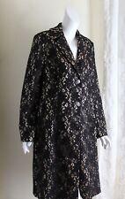 SPIEGEL -Sz 14 Exquisite LACE OVERLAY Fancy Long Blazer Jacket AMAZING ROMANTIC