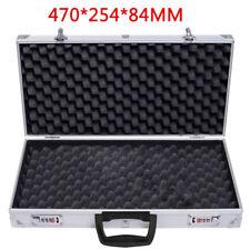Aluminium Pistol Gun Cases Storage Lockable Flight Case Foam Tool Boxs Secured