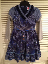 Cakewalk Girls Blue Floral Dress Size USA 8