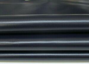 VERY DARK BLUE midnight shiny Italian Lambskin leather skins 4sqf 0.7mm #A7047