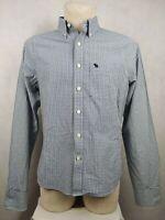 Verkauf% ABERCROMBIE & FITCH Muscle NEW YORK Langarm Hemd Gr XL Shirt kariert