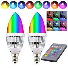 LED E12 E14 RGB Ampoule en Bougie Forme 16 Couleurs Changement avec Télécommande