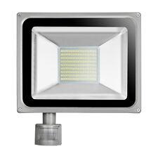 100W LED PIR Motion Sensor Flood Light Outdoor Cool White Garden Security Lamp