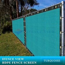 Ifenceview 6'x100' Turquoise Green Fence Privacy Screen Mesh Yard Construction