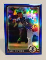 ALEX GORDON 2010 Bowman Chrome Blue Refractor RC SERIAL# 024/150 KC ROYALS #84
