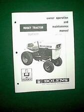 BOLENS HUSKY 850 TRACTOR MODEL # 191-02 OWNER MAINTENANCE MANUAL 10/66