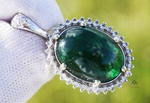 Emerald Pendant Diamond Gold 14K Natural GIA Certified 13.48CTW Retail $14,600