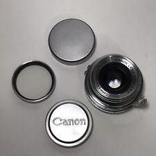 New ListingMint - Rare Canon 35mm f/3.2 Lens Leica Screw Mount Ltm L39 #74545