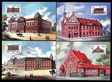 DDR 3067/70 Maximumkarten Historische Postgebäude u.a. Postamt Perleberg