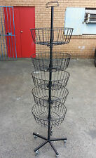 Portable display basket retail dumping stand spinner pharmacy service station