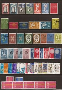 NETHERLANDS; 1956-1973-many Europas plus few CEPT issues