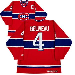 Jean Beliveau Autographed Montreal Canadiens Vintage CCM Jersey