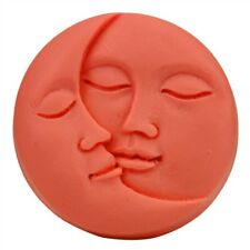 Handmade Sun&Moon Faces Silicone Soap Molds Craft Molds Soap Mould Pink Color