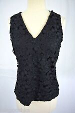 J Crew Collection Daisy Eyelet Shell Size 000 Black NWT