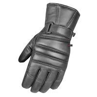 Premium Men's Dress Warm Winter Genuine Leather Thermal Motorcycle Gloves