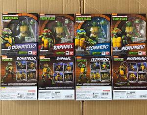 Set Of 4 SHF TMNT Teenage Mutant Ninja Turtles Action Figures 6'' Toys