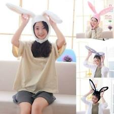 Funny Plush Bunny Ears Hood Hat Rabbit Eastern Cosplay Costume Headwear Props