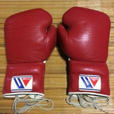 Winning Boxing Gloves 12oz Kickboxing Punching Practice Red From Japan Excellent