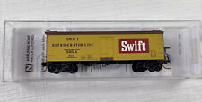 Micro Trains N Scale 36' Wood Sheathed Reefer Swift Refrigerator Line 058 00 590